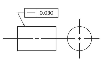نمایش تلرانس هندسی راستی